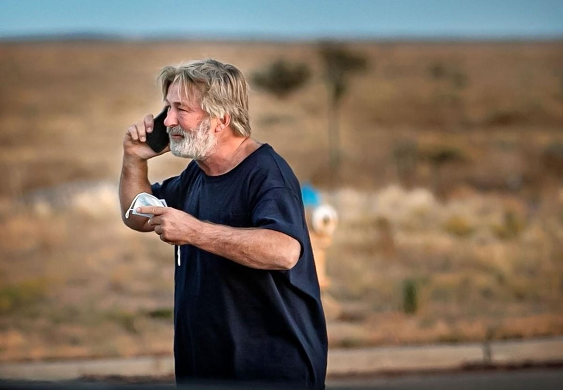 Alec Baldwin after fatal prop gun shooting